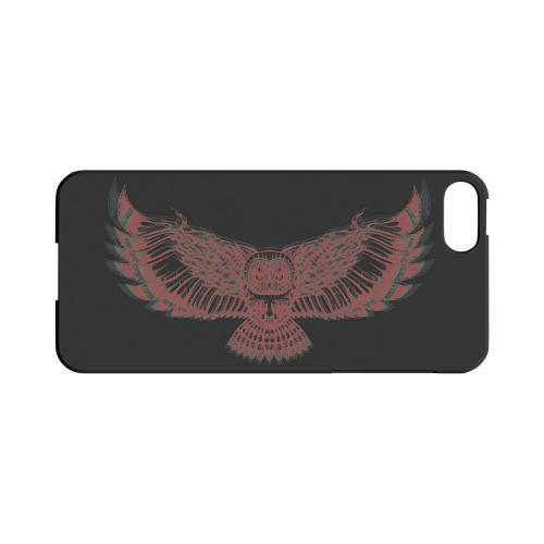 Flying Owl 3D-Esque - Geeks Designer Line Tattoo Series Hard Case for Apple iPhone 5/5S