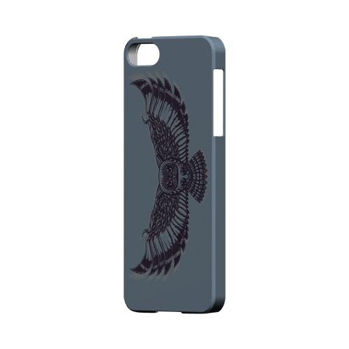 Flying Owl Blue/ Gray - Geeks Designer Line Tattoo Series Hard Case for Apple iPhone 5/5S