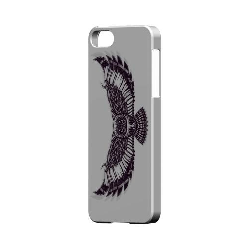 Flying Owl on White - Geeks Designer Line Tattoo Series Hard Case for Apple iPhone 5/5S