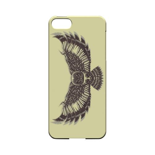 Flying Owl on Yellow - Geeks Designer Line Tattoo Series Hard Case for Apple iPhone 5/5S