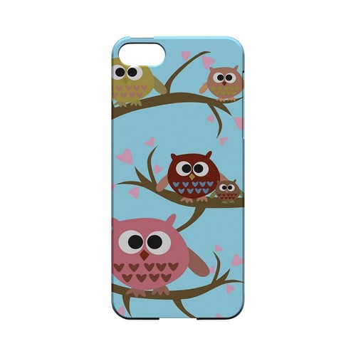 Round Owl Hangout - Geeks Designer Line (GDL) Owl Series Hard Back Cover for Apple iPhone 5/5S