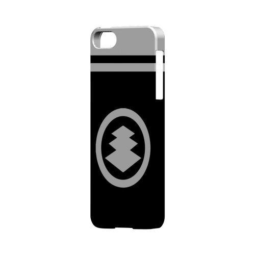 White Hishi Kamon w/ Stripe - Geeks Designer Line Tattoo Series Hard Case for Apple iPhone 5/5S