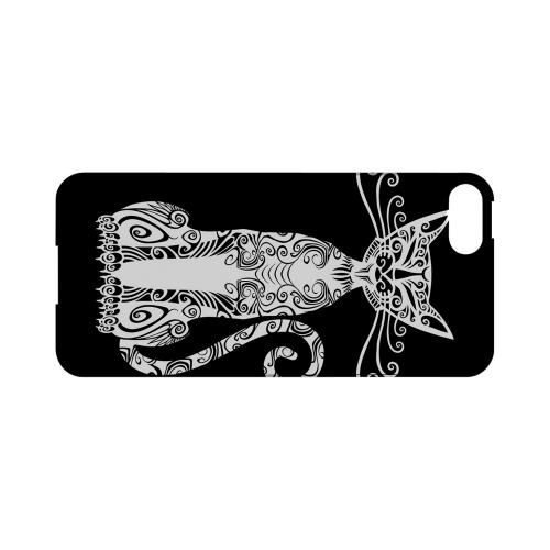 Premium High Impact Resistant Apple iPhone 5/5S Ultra Slim Hard Case - Glossy White Kitty Nouveau on Black