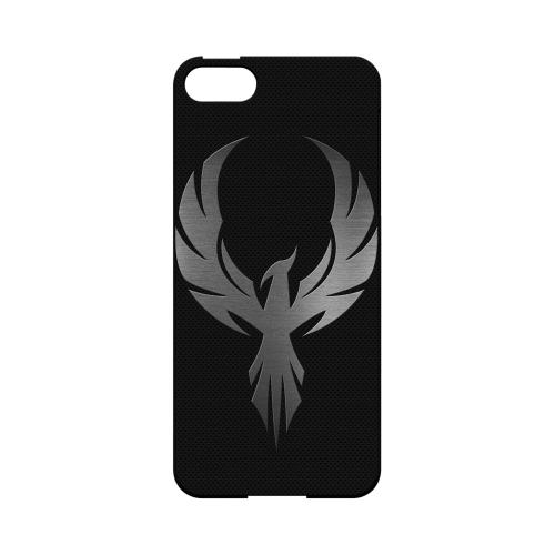 Phoenix Metal on Dark Gray Texture-Geeks Designer Line Hard Case for Apple iPhone 5/5S