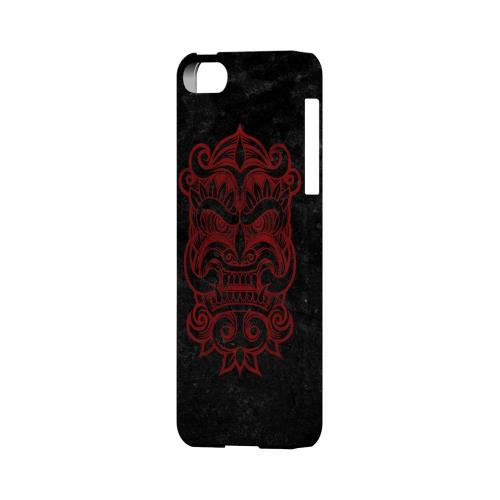 Premium High Impact Resistant Apple iPhone 5/5S Ultra Slim Hard Case - Glossy White Red Devil Mask