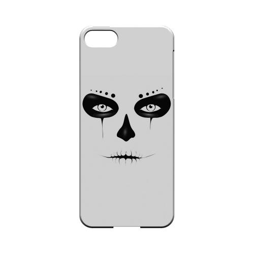 Premium High Impact Resistant Apple iPhone 5/5S Ultra Slim Hard Case - Glossy White Skull Face