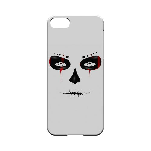 Premium High Impact Resistant Apple iPhone 5/5S Ultra Slim Hard Case - Glossy White Skull Face Blood