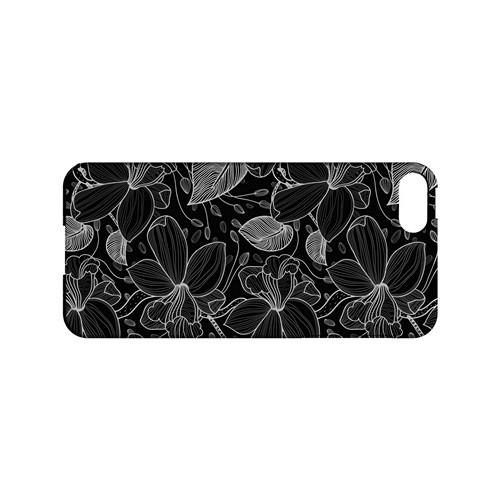 White on Black Orchid Lines - Geeks Designer Line Floral Series Hard Case for Apple iPhone 5/5S