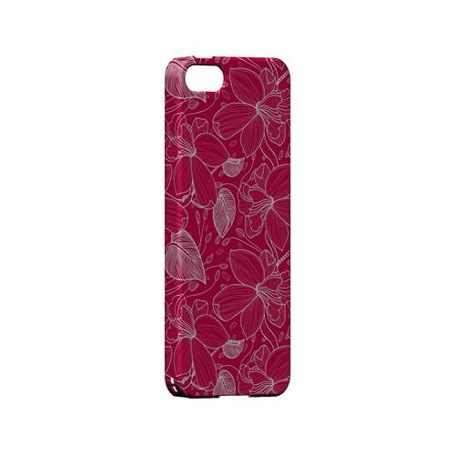 White on Pink Orchid Lines - Geeks Designer Line Floral Series Hard Case for Apple iPhone 5/5S