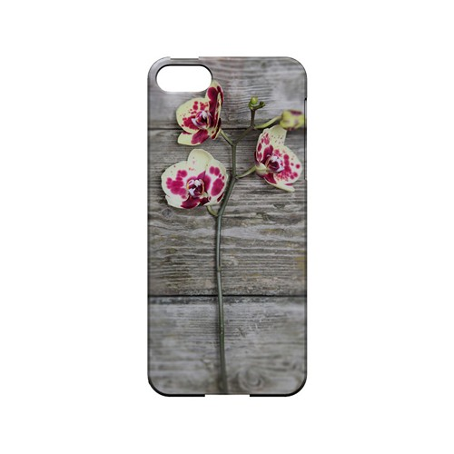 Orchid on Wood - Geeks Designer Line Floral Series Hard Case for Apple iPhone 5/5S