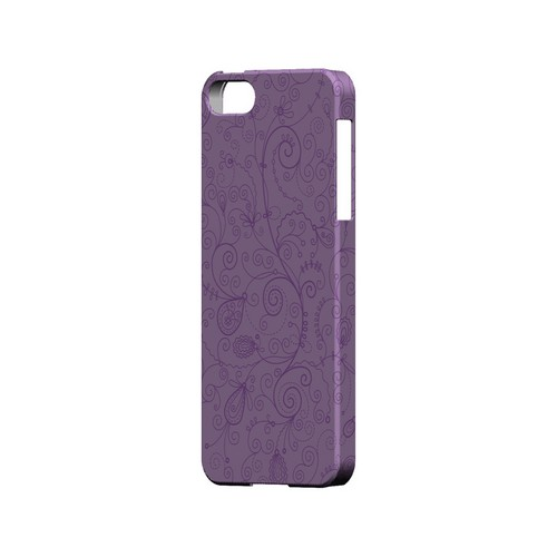Floral 1 African Violet - Geeks Designer Line Pantone Color Series Hard Case for Apple iPhone 5/5S