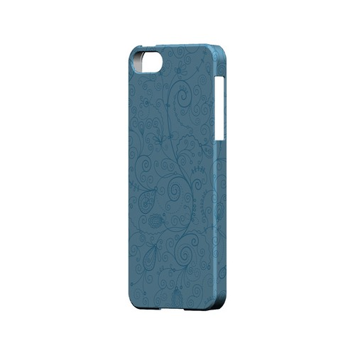 Floral 1 Dusk Blue - Geeks Designer Line Pantone Color Series Hard Case for Apple iPhone 5/5S