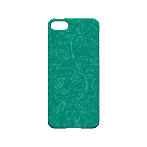 Floral 1 Emerald - Geeks Designer Line Pantone Color Series Hard Case for Apple iPhone 5/5S