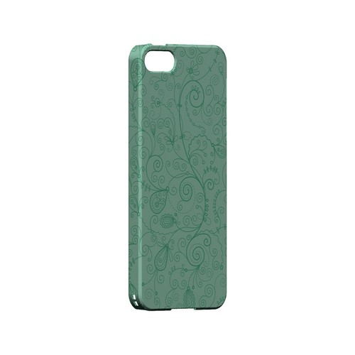 Floral 1 Grayed Jade - Geeks Designer Line Pantone Color Series Hard Case for Apple iPhone 5/5S