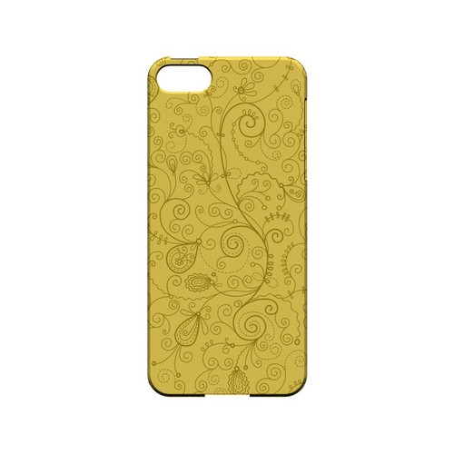 Floral 1 Lemon Zest - Geeks Designer Line Pantone Color Series Hard Case for Apple iPhone 5/5S