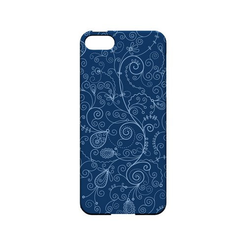 Floral 1 Monaco Blue - Geeks Designer Line Pantone Color Series Hard Case for Apple iPhone 5/5S