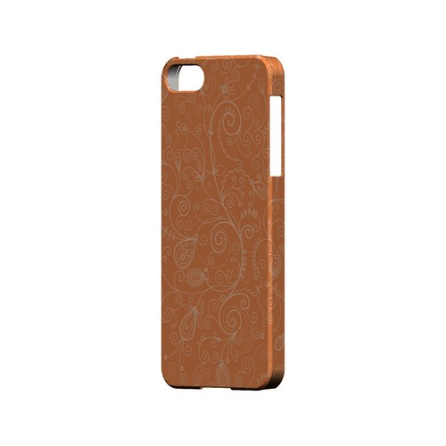 Floral 1 Nectarine - Geeks Designer Line Pantone Color Series Hard Case for Apple iPhone 5/5S