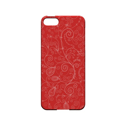 Floral 1 Poppy Red - Geeks Designer Line Pantone Color Series Hard Case for Apple iPhone 5/5S
