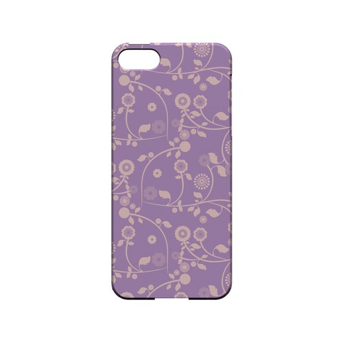 Floral 2 African Violet - Geeks Designer Line Pantone Color Series Hard Case for Apple iPhone 5/5S