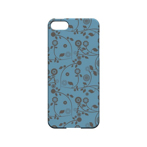 Floral 2 Dusk Blue - Geeks Designer Line Pantone Color Series Hard Case for Apple iPhone 5/5S
