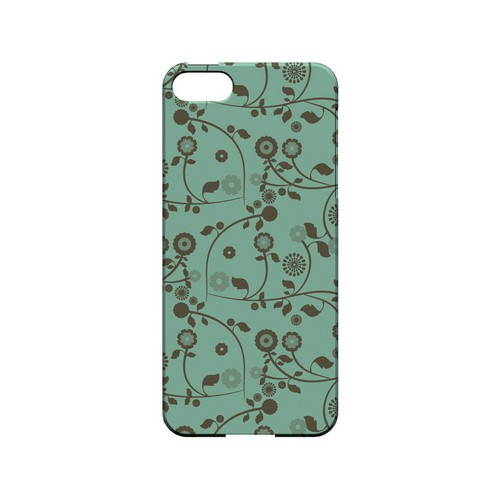 Floral 2 Grayed Jade - Geeks Designer Line Pantone Color Series Hard Case for Apple iPhone 5/5S