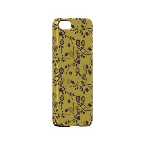 Floral 2 Lemon Zest - Geeks Designer Line Pantone Color Series Hard Case for Apple iPhone 5/5S