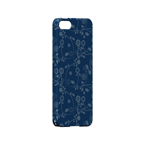 Floral 2 Monaco Blue - Geeks Designer Line Pantone Color Series Hard Case for Apple iPhone 5/5S