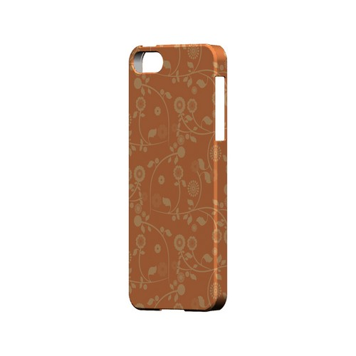 Floral 2 Nectarine - Geeks Designer Line Pantone Color Series Hard Case for Apple iPhone 5/5S