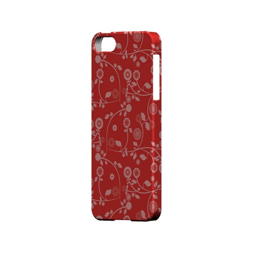 Floral 2 Poppy Red - Geeks Designer Line Pantone Color Series Hard Case for Apple iPhone 5/5S