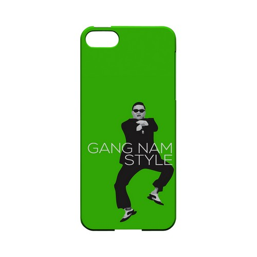 Green Gangnam Style - Geeks Designer Line Slim Back Cover for Apple iPhone 5/5S