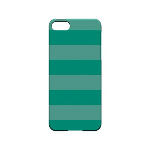 Stripes Emerald - Geeks Designer Line Pantone Color Series Hard Case for Apple iPhone 5/5S