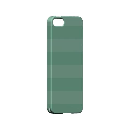 Stripes Grayed Jade - Geeks Designer Line Pantone Color Series Hard Case for Apple iPhone 5/5S
