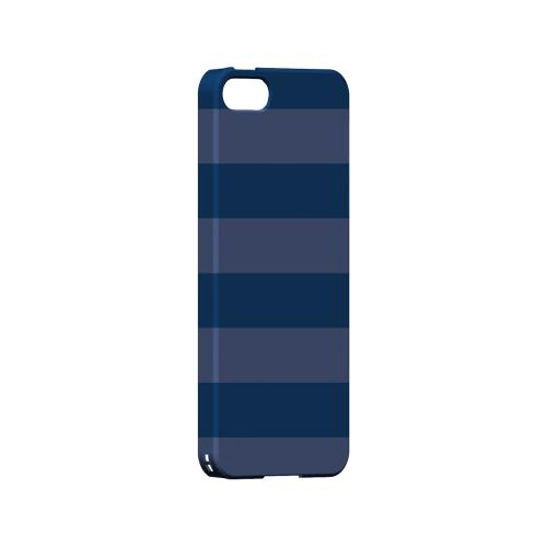 Stripes Monaco Blue - Geeks Designer Line Pantone Color Series Hard Case for Apple iPhone 5/5S