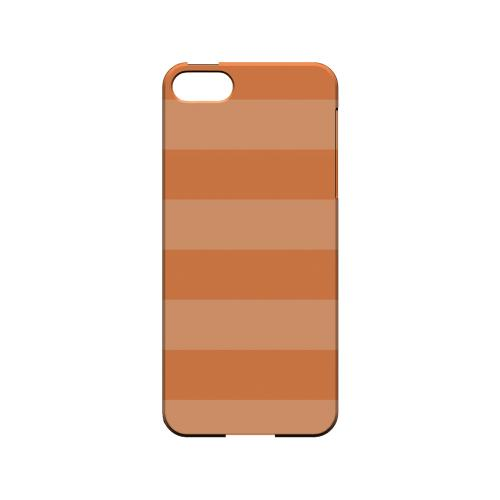 Stripes Nectarine - Geeks Designer Line Pantone Color Series Hard Case for Apple iPhone 5/5S