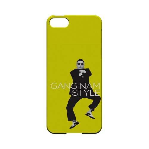 Yellow Gangnam Style - Geeks Designer Line Slim Back Cover for Apple iPhone 5/5S