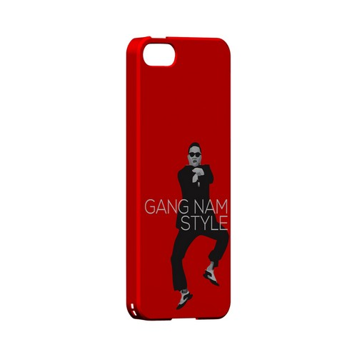 Red Gangnam Style - Geeks Designer Line Slim Back Cover for Apple iPhone 5/5S