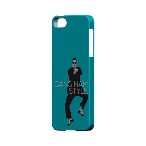 Teal Gangnam Style - Geeks Designer Line Slim Back Cover for Apple iPhone 5/5S