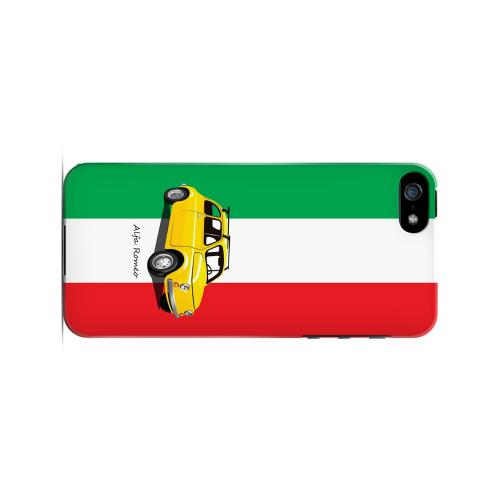Yellow Alfa Romeo on Green/ White/ Red - Geeks Designer Line Auto Series Hard Case for Apple iPhone 5/5S