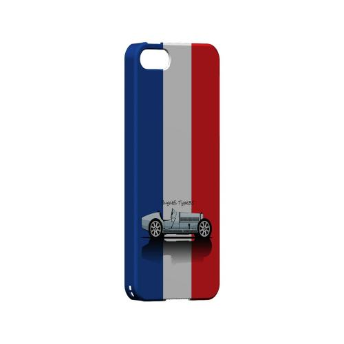 Bugatti Type 35S on Blue/ White/ Red - Geeks Designer Line Auto Series Hard Case for Apple iPhone 5/5S