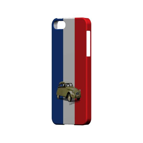 Citroen 2CV on Blue/ White/ Red - Geeks Designer Line Auto Series Hard Case for Apple iPhone 5/5S