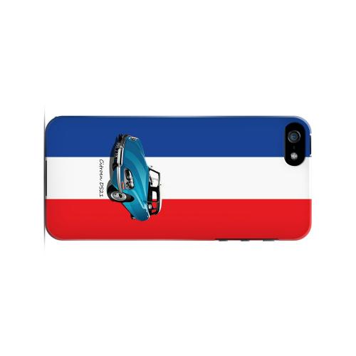 Citroen DS21 on Blue/ White/ Red - Geeks Designer Line Auto Series Hard Case for Apple iPhone 5/5S