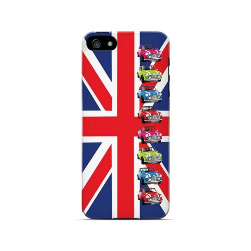 Multi Mini Coopers on Union Jack - Geeks Designer Line Auto Series Hard Case for Apple iPhone 5/5S