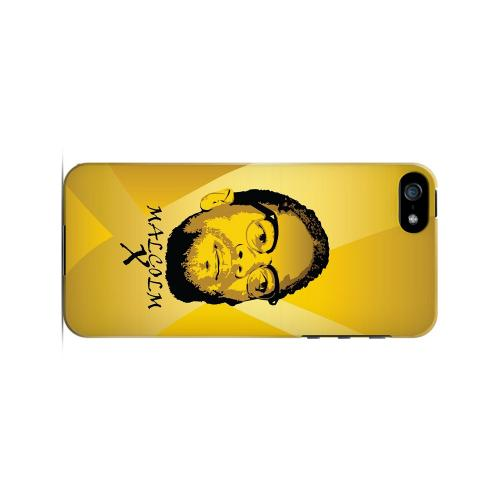 Malcolm X in the Middle on Yellow - Geeks Designer Line Revolutionary Series Hard Case for Apple iPhone 5/5S