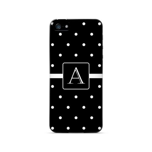 A on Classic Mini Polka Dots - Geeks Designer Line Monogram Series Hard Case for Apple iPhone 5/5S