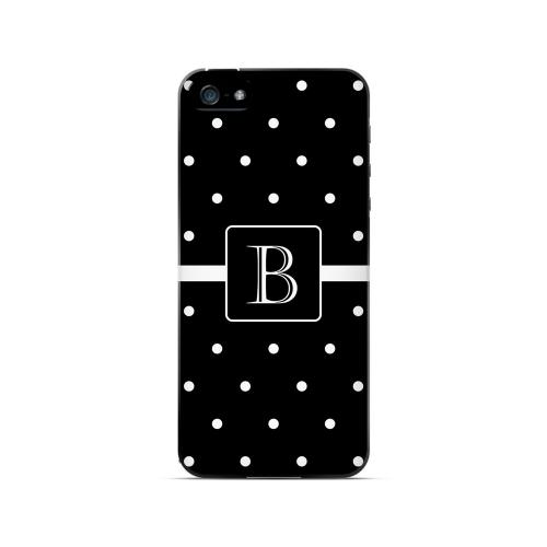 B on Classic Mini Polka Dots - Geeks Designer Line Monogram Series Hard Case for Apple iPhone 5/5S
