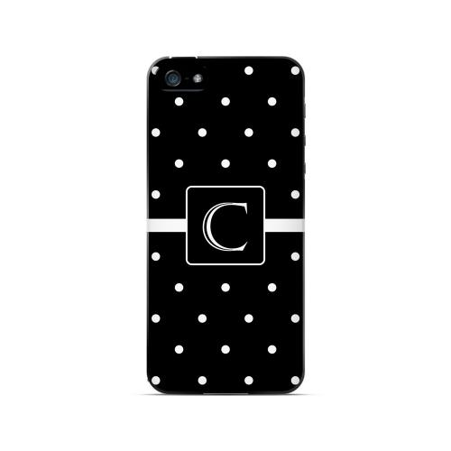 C on Classic Mini Polka Dots - Geeks Designer Line Monogram Series Hard Case for Apple iPhone 5/5S