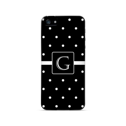 G on Classic Mini Polka Dots - Geeks Designer Line Monogram Series Hard Case for Apple iPhone 5/5S