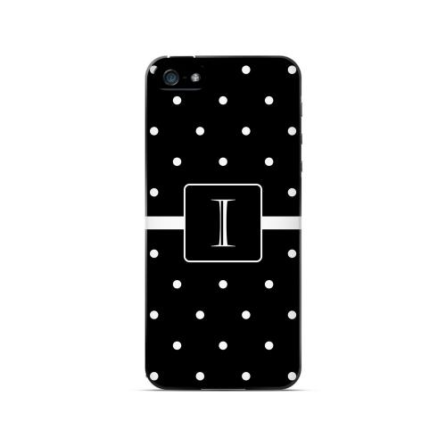 I on Classic Mini Polka Dots - Geeks Designer Line Monogram Series Hard Case for Apple iPhone 5/5S
