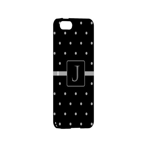 J on Classic Mini Polka Dots - Geeks Designer Line Monogram Series Hard Case for Apple iPhone 5/5S