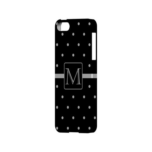 M on Classic Mini Polka Dots - Geeks Designer Line Monogram Series Hard Case for Apple iPhone 5/5S